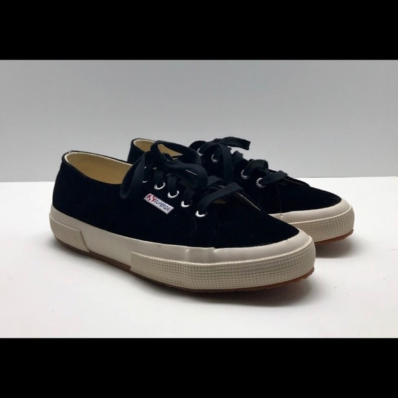 Superga Shoes | Superga Velvet Black